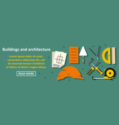 buildings and architecture banner horizontal vector image vector image