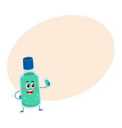 cute and funny dental mouthwash mouth rinse vector image vector image