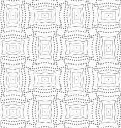 Dotted rectangle with doted structure vector image