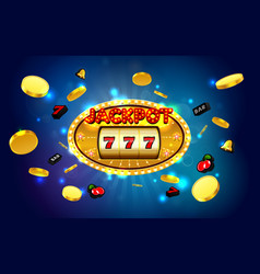 jackpot slot machine vector image