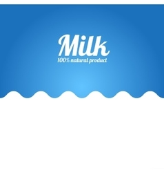 Milk Wave Background Label Concept vector image vector image