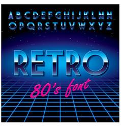 retro stylish font poster vector image