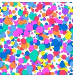 Seamless pattern of colorful confetti Festive vector image
