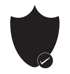 security shield icon on white background vector image vector image