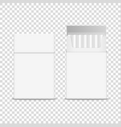 3d realistic closed and opened clear blank vector