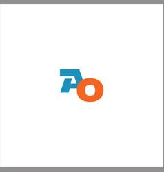 A o letter logo design on black color background vector