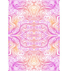 Abstract psychedelic fractal pattern pink orange vector