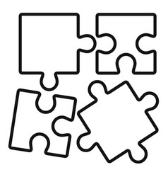 alzheimer puzzle test icon outline style vector image