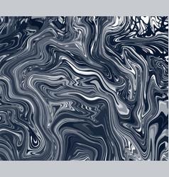 Artistic painted black waves dark vector