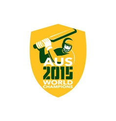 Australia Cricket 2015 World Champions Shield vector image