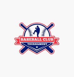 Baseball logo badge-4 vector