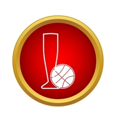 Basketball cup icon simple style vector