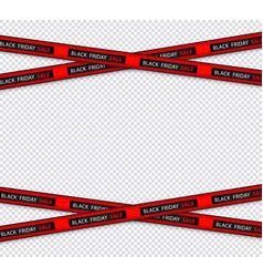 black friday sale restriction black stripe vector image