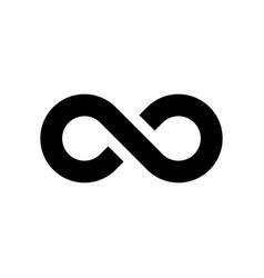 black infinity symbol icon simple flat vector image