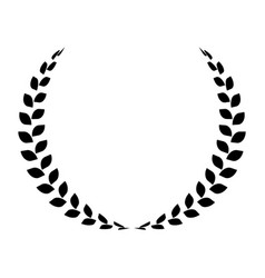 black laurel wreath simple flat icon vector image