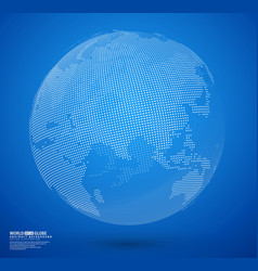 blue abstract dotted globe vector image