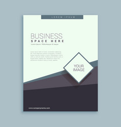 Brochure design template for business vector