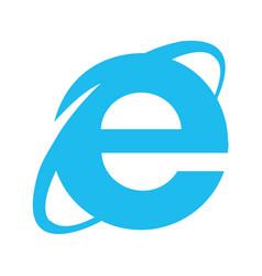 browser internet explorer emblem vector image