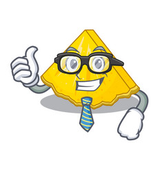 businessman pineapple slice isolated in the mascot vector image