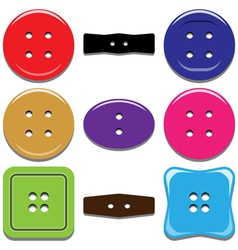 Buttons for clothing vector