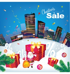 christmas city sale vector image