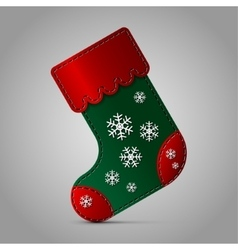Christmas sock - with snowflakes vector image