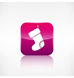 Christmas socks icon Application button vector