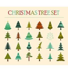 Christmas tree icon set Flat design vector