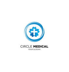 circle medical vector image