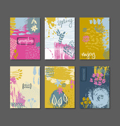 collection of spring cards vector image