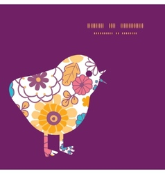 Colorful oriental flowers chicken vector