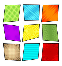 Comic colorful frames collection vector