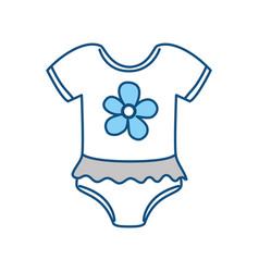 cute baby suit wear vector image vector image