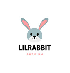 cute little rabbit cartoon logo icon vector image