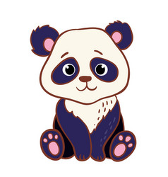 Cute panda sitting on a white background vector