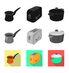 Design of kitchen and cook sign collection vector