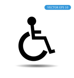 disabled icon eps 10 vector image