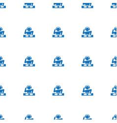 dj icon pattern seamless white background vector image