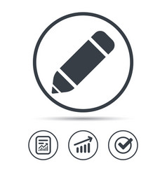 Edit icon pencil for drawing sign vector