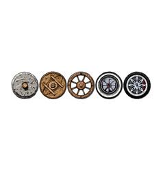 Evolution wheel vector