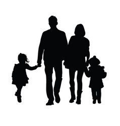 Familly silhouette vector