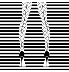 fashion model black and white stripes vector image