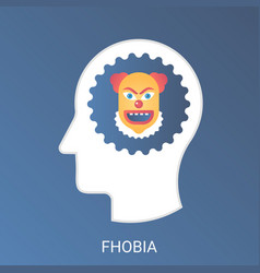 fhobia concept modern gradient flat style vector image