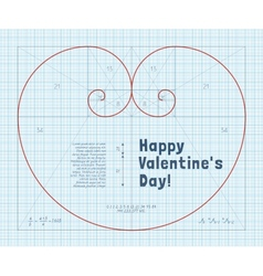 Fibonacci Heart vector image