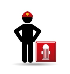 firefighter job icon vector image