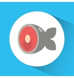 Fish icon Nutrition and Organic food design vector