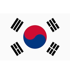 Flag of Republic of Korea vector image