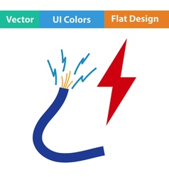 Flat design icon of Wire vector image