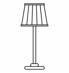 Floor lamp icon in outline style vector