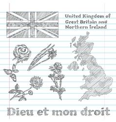 Floral symbols united kingdom vector